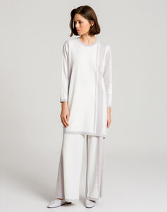 TWO COLOR RAYON LONG TUNIC