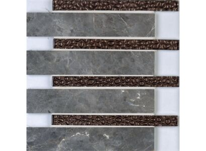 NATURAL STONE AND GLASS - MOSAIC DCM019