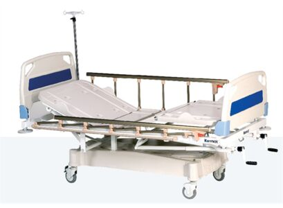 HOSPITAL BED WITH THREE ADJUSTMENTS ( TRENDELENBURG ) ( ABS COVERED ) ( PLASTIC HEADBOARDS )