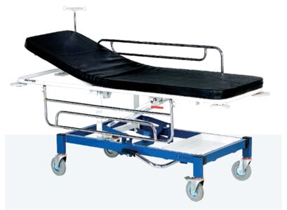 STRETCHER WITH HYDRAULIC HEIGHT ADJUSTMENT